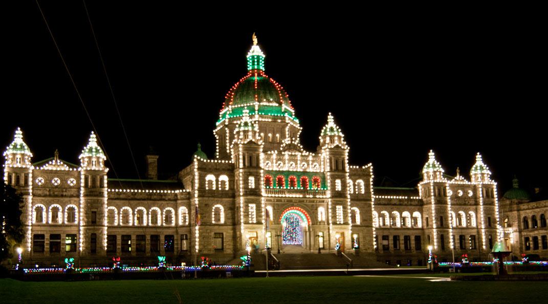 Edificio del Parlamento, Victoria, Vancouver Island. British Columbia, Canadá.