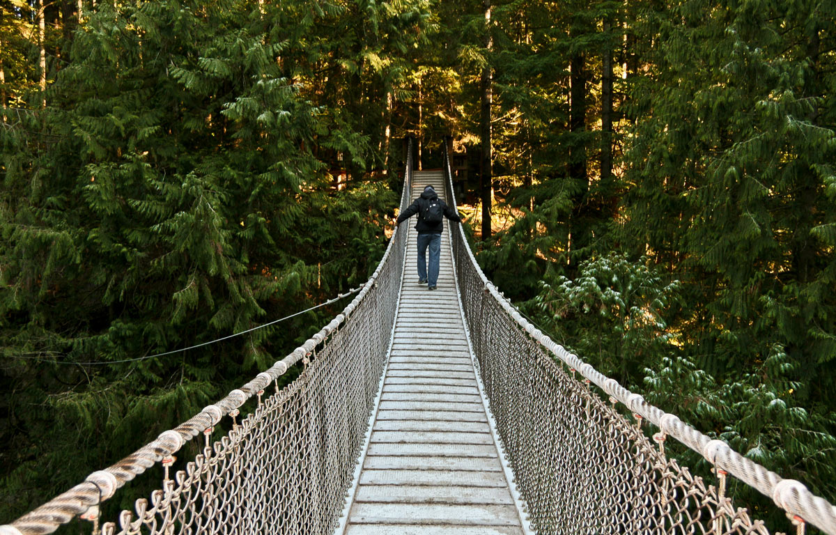 Lynn Valley Suspension Bridge, Vancouver. British Columbia, Canadá.