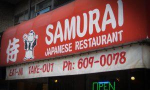Cena en Samurai, restaurante japonés