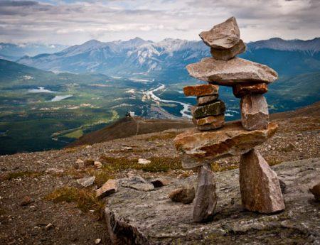 En las alturas del Parque Nacional de Jasper