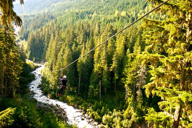 Tirolina en Whistler