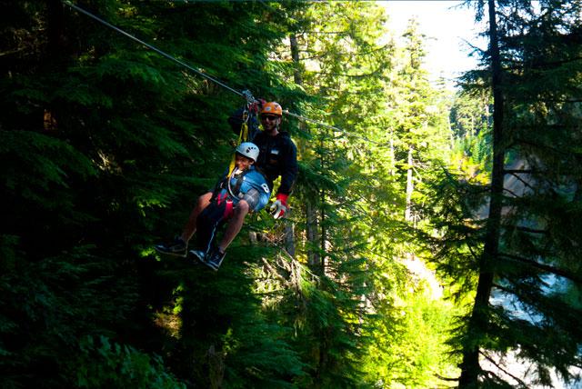Tirolina en Whistler para niños