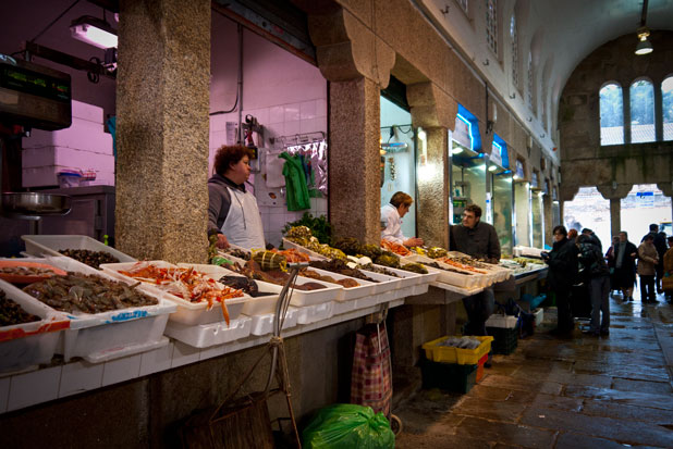Mercado de Abastos, Santiago de Compostela. Galicia.
