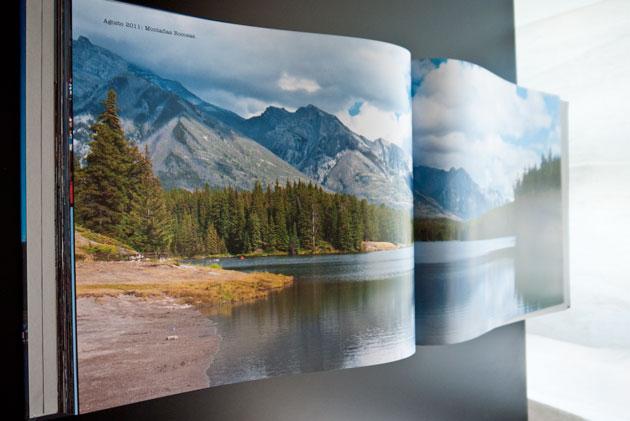 Álbum de fotos imagen a doble página Blurb