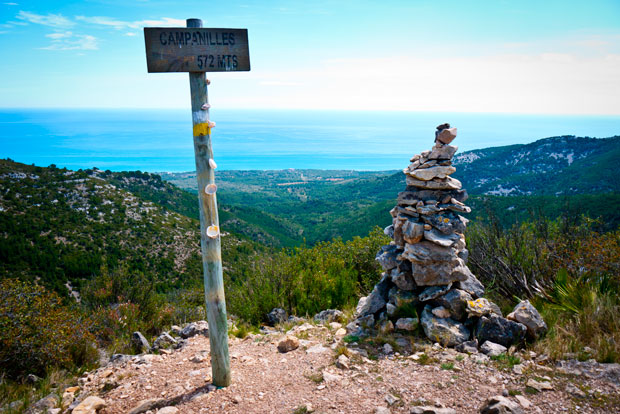 Trekking route: Top of Campanilles, Alcossebre.