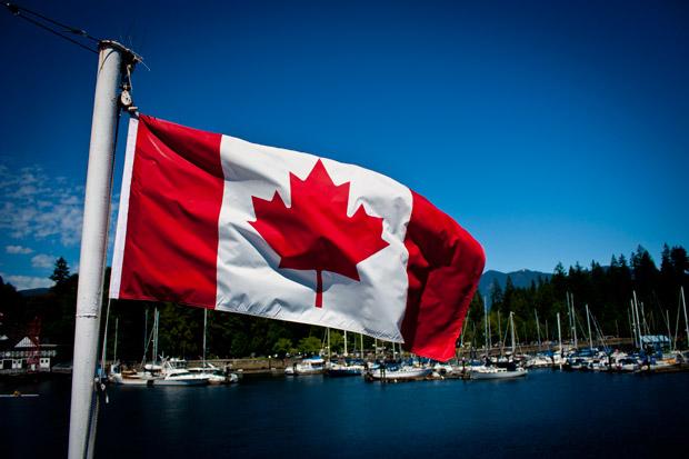 Canadá. Bandera canadiense.