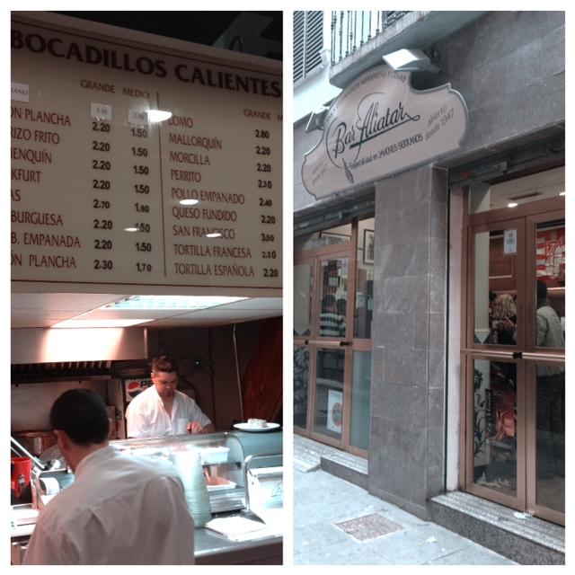 Bar de tapas Aliatar Granada