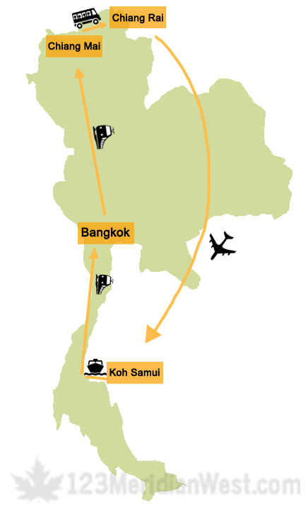 Ruta Tailandia. Viajar a Tailandia