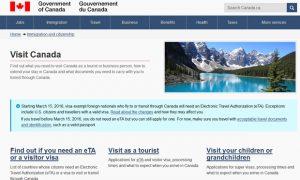 Nuevo requisito de acceso para turistas que viajen a Canadá
