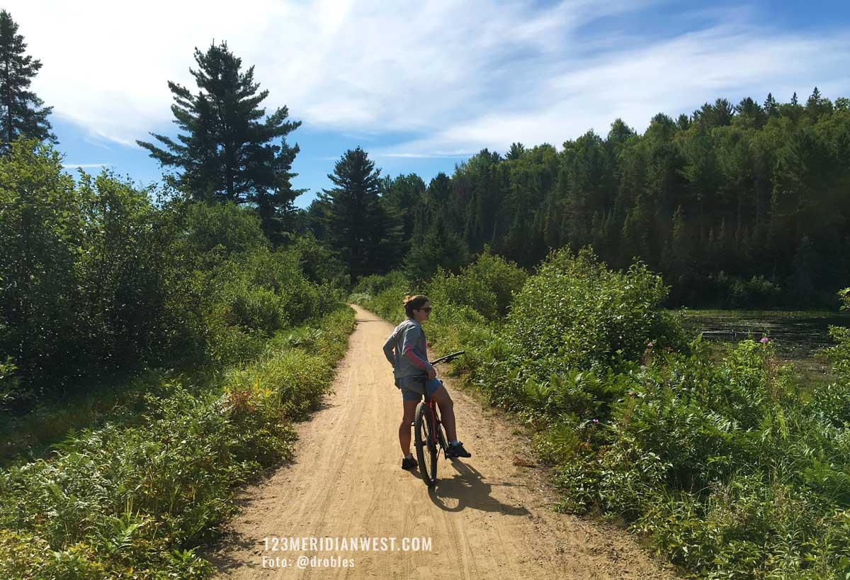 Algonquin Park Canada en bici
