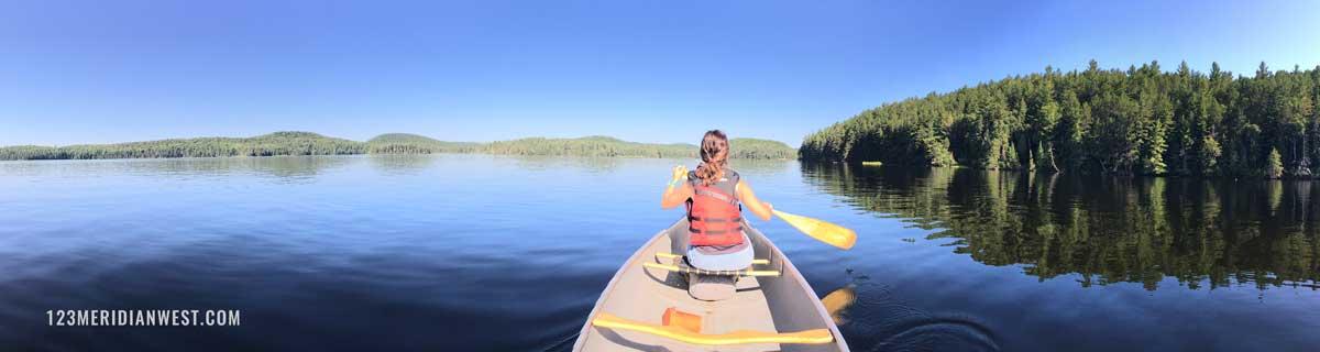 Algonquin Park Canada alquilar canoa