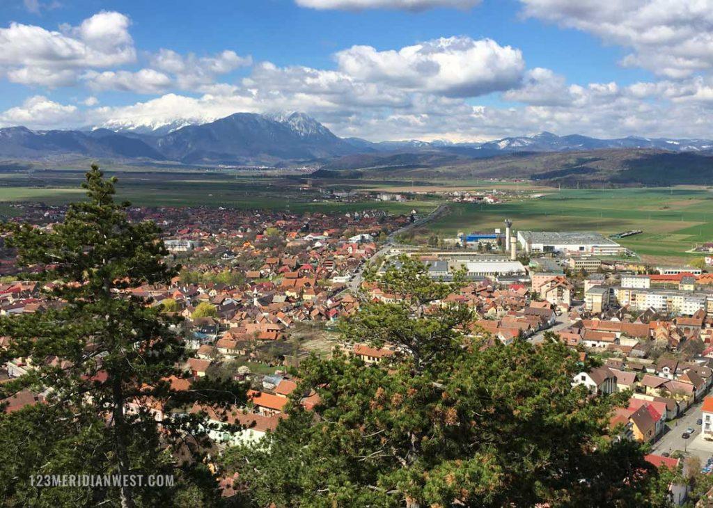 Rasnov vistas desde ciudadela