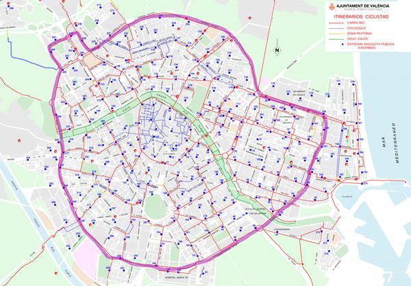 Rutas en bici Valencia. Ronda Norte y Ronda Sur