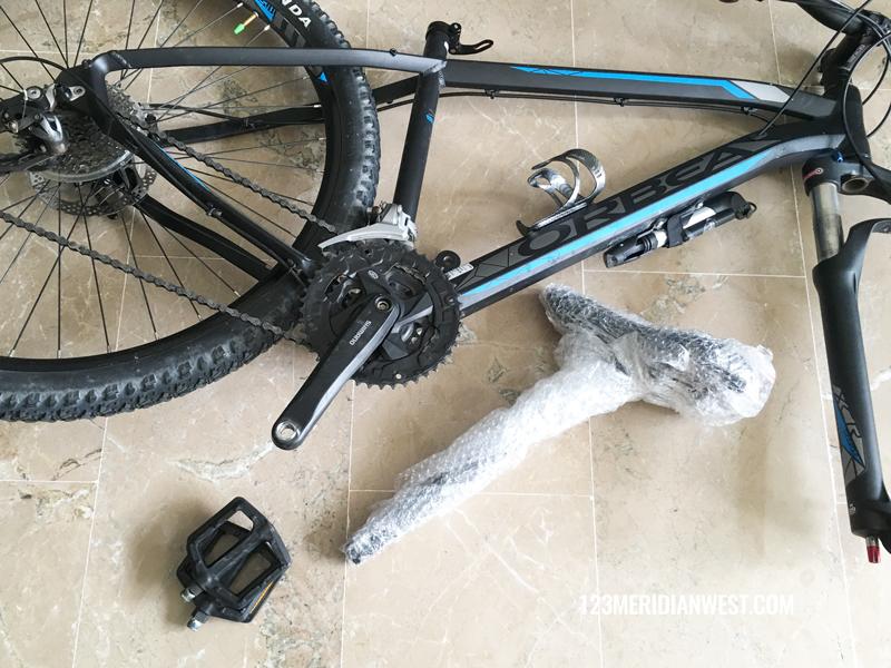 Desmontar bici para envío