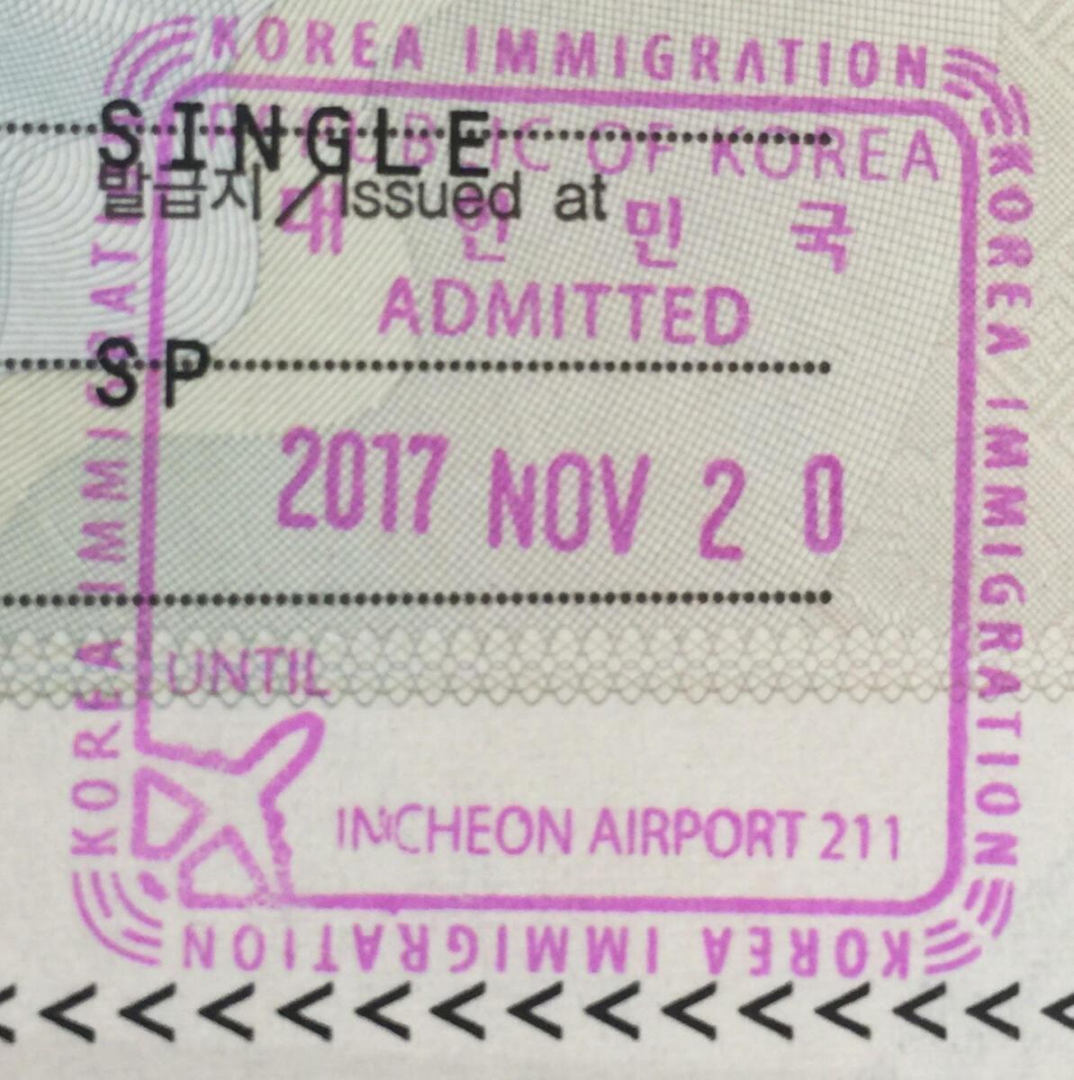 pasaporte Corea del Sur
