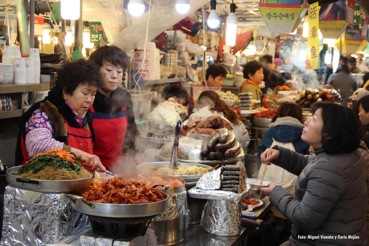 Mercado Seul Corea del Sur