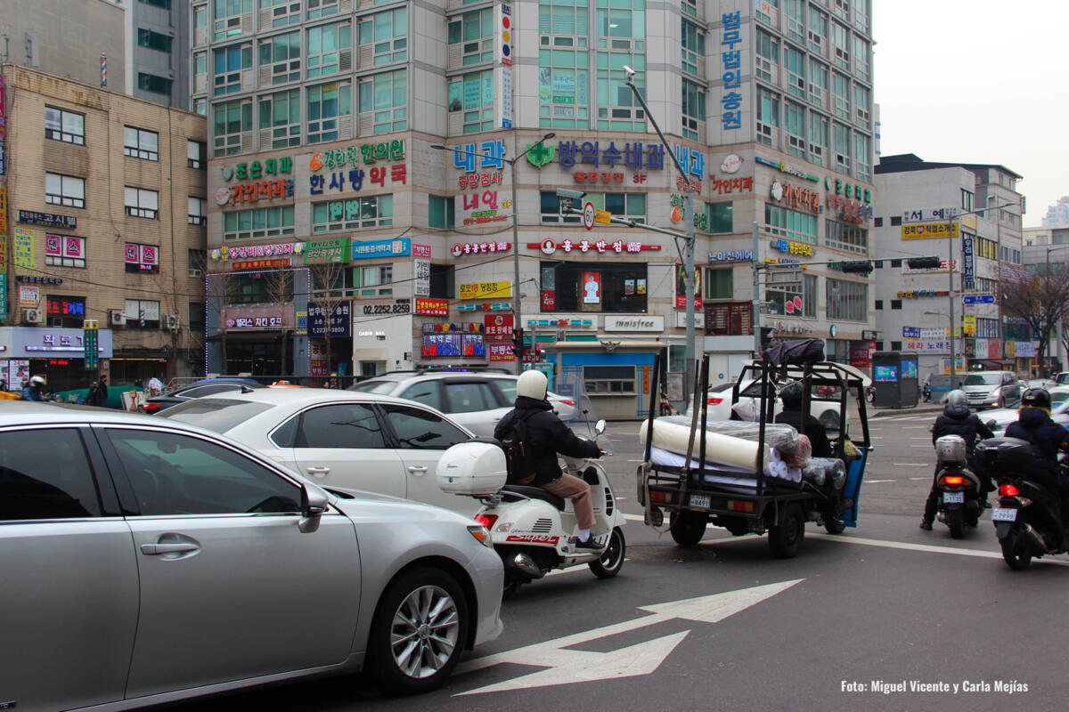 tráfico Seúl Corea del Sur