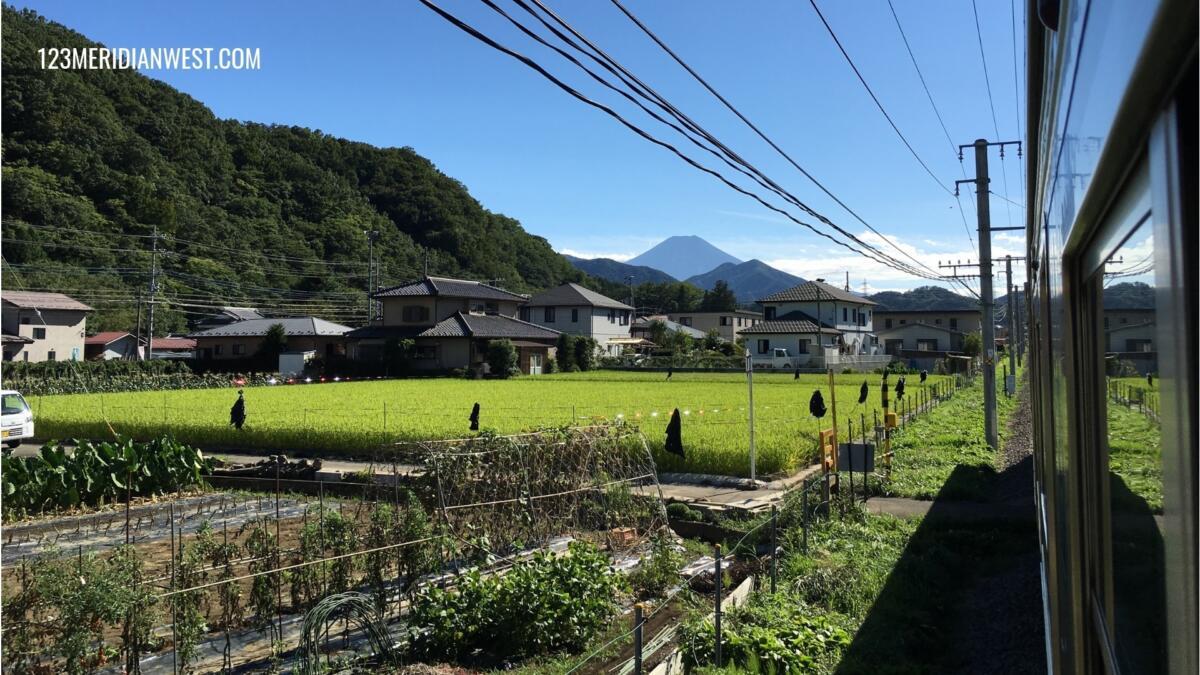 Monte Fuji desde el tren