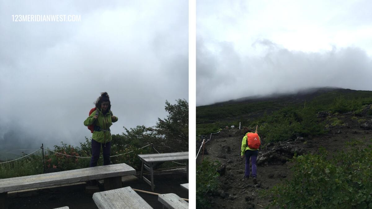subida Monte Fuji con lluvia